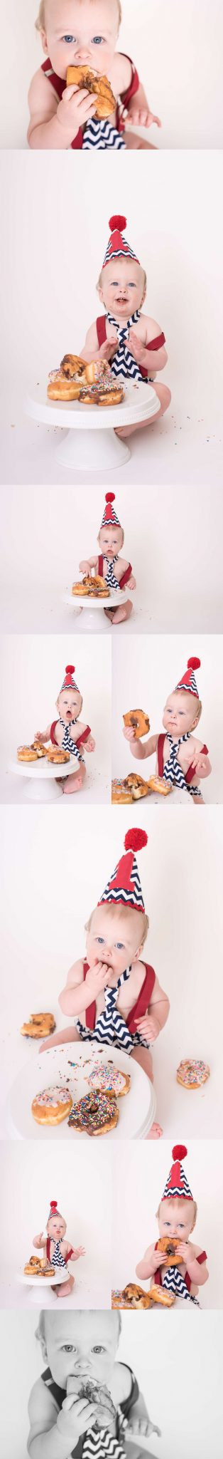 Camden Demerly Is One | A Donut Smash Cake | Luminant Photography | Lafayette, Indiana Photographer | Lafayette, Indiana Family Photographer