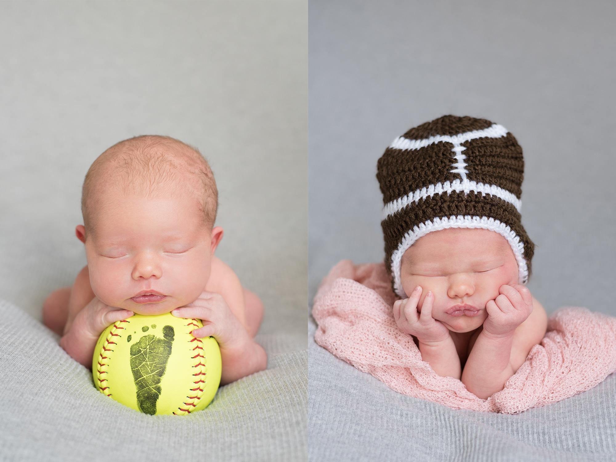 Lafayette Indiana Newborn Photos | Softball Newborn Photos | Lafayette Indiana Photographer | Luminant Photography | Ailyn Fry | Newborn Photographer
