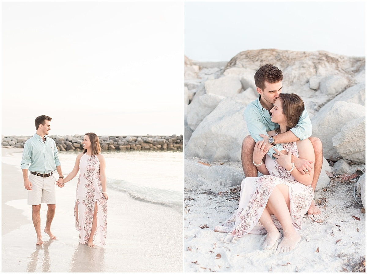 Sunset photos at Pass-A-Grille Beach in Florida by Victoria Rayburn Photography—a wedding photographer based in Lafayette, Indiana.