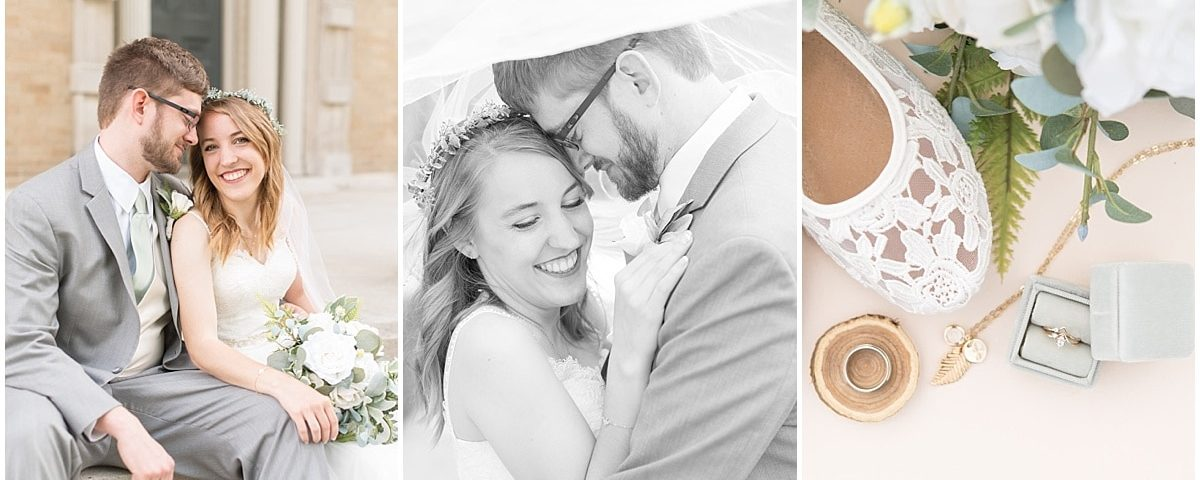 Victoria Rayburn Photography—a Lafayette, Indiana wedding photographer—took Stephen & Jessica Outcalt's wedding photos at the Haan Mansion in Lafayette, Indiana
