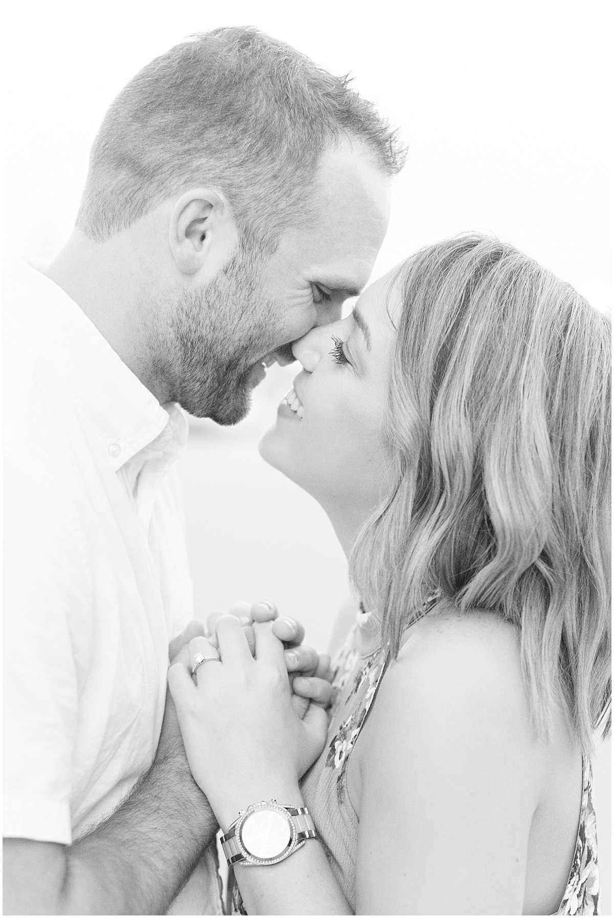 Victoria Rayburn Photography took Nile Seward and Haylie Pangle's engagement photos in Downtown Lafayette, Indiana.