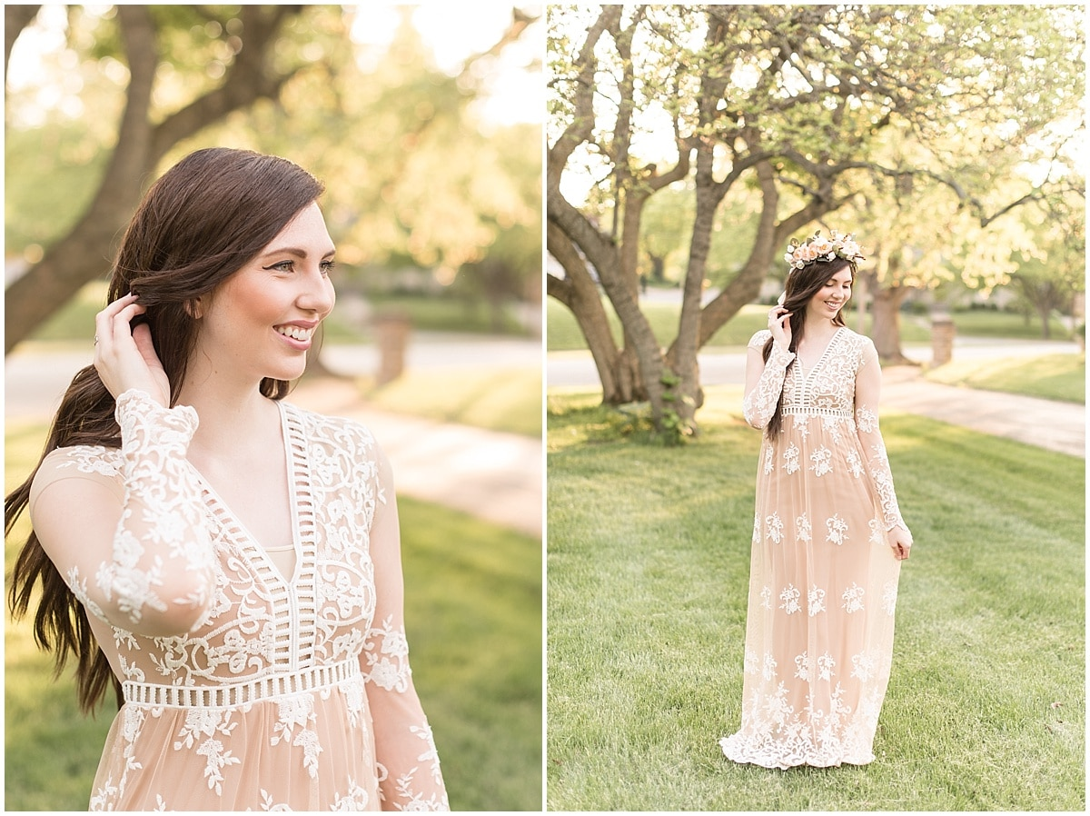 Wondering what to wear to your bridal shower? Try this boho chic dress with a flower crown?