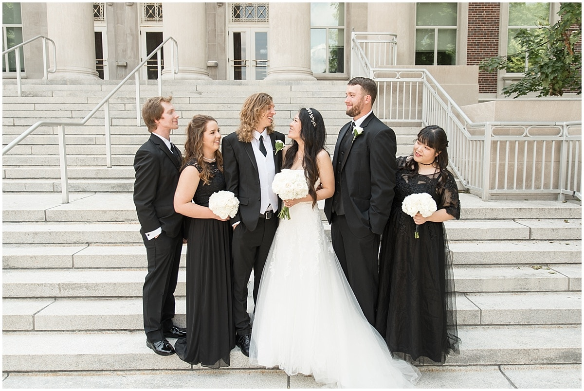Jordan and Yvonne Dill enjoyed a Ross-Ade Stadium wedding at Purdue University in West Lafayette, Indiana.