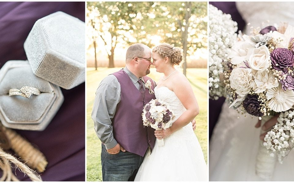 Jake Terry and Cassie Timmons celebrated their wedding at Legacy Barn in Kokomo, Indiana