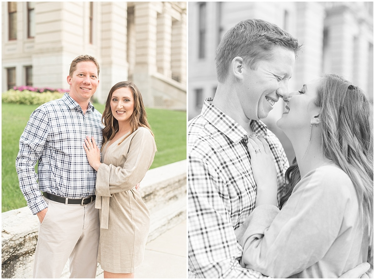 Tim and Lena VanderPlaats celebrated four years of marriage with anniversary photos in downtown Lafayette, Indiana.