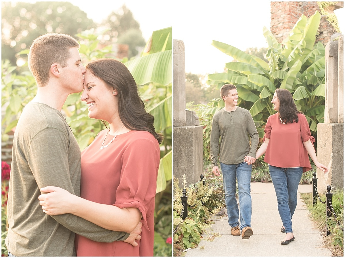 Isaac Fullenkamp and Adrienne Coghlan took their engagement photos at Holliday Park in Indianapolis.