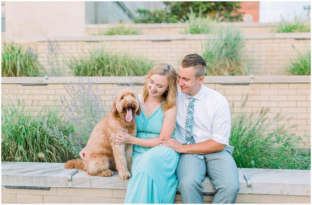 Victoria Rayburn with husband, Zach, dog, Hattie