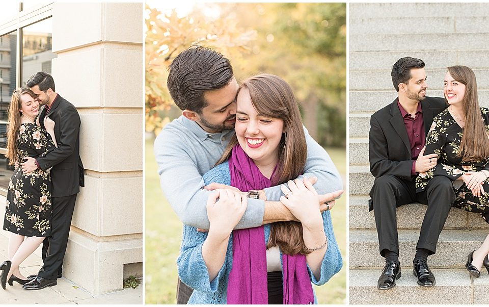 Nick Ballester & Madeline Pingel's Engagement Session in Downtown Lafayette, Indiana
