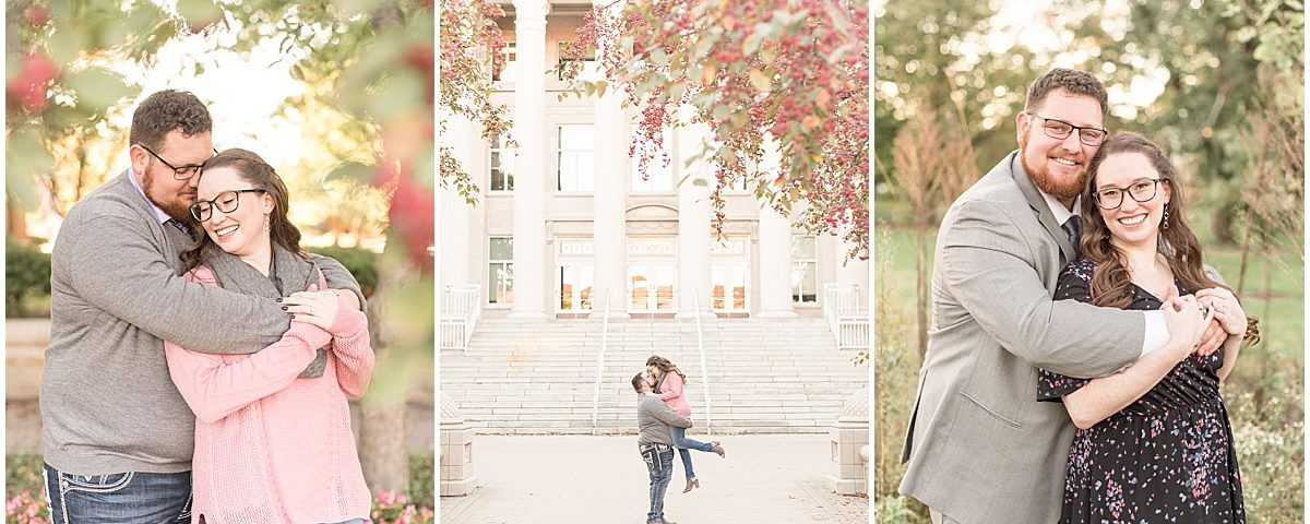 Andrew Rowe and Emily Britton took their fall engagement photos in West Lafayette, Indiana