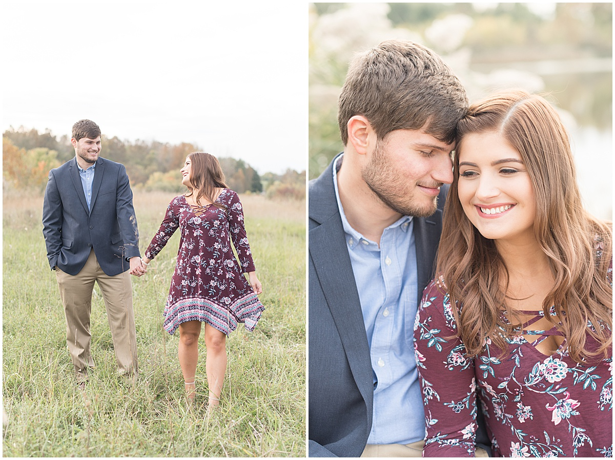 Logan Dexter and Becky Biancardi fall engagement photos at Fairfield Lakes Park in Lafayette Indiana 14.jpg