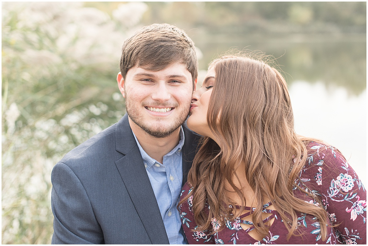 Logan Dexter and Becky Biancardi fall engagement photos at Fairfield Lakes Park in Lafayette Indiana 17.jpg