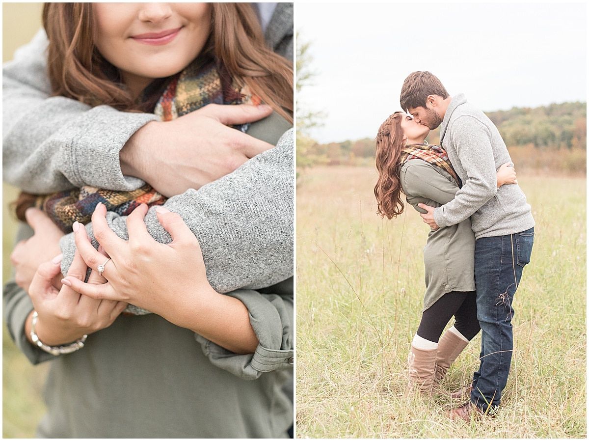 Logan Dexter and Becky Biancardi fall engagement photos at Fairfield Lakes Park in Lafayette Indiana 27.jpg