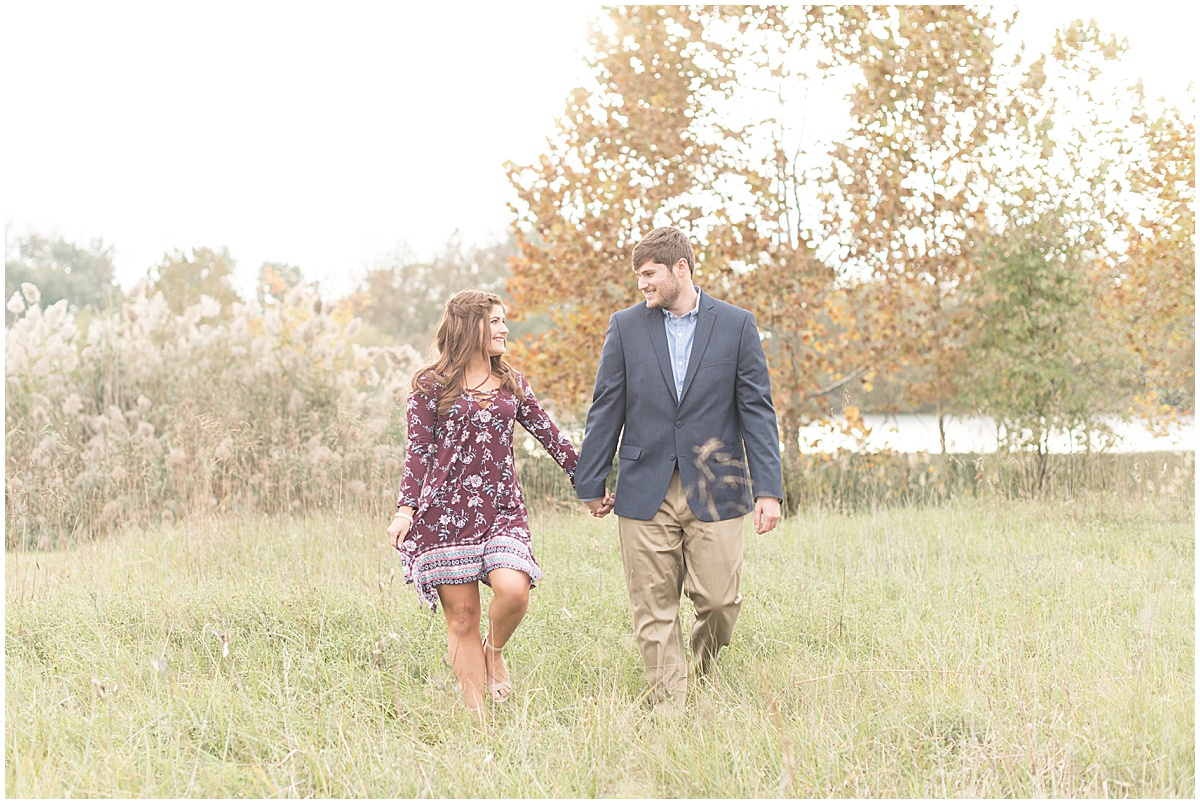 Logan Dexter and Becky Biancardi fall engagement photos at Fairfield Lakes Park in Lafayette Indiana 4.jpg