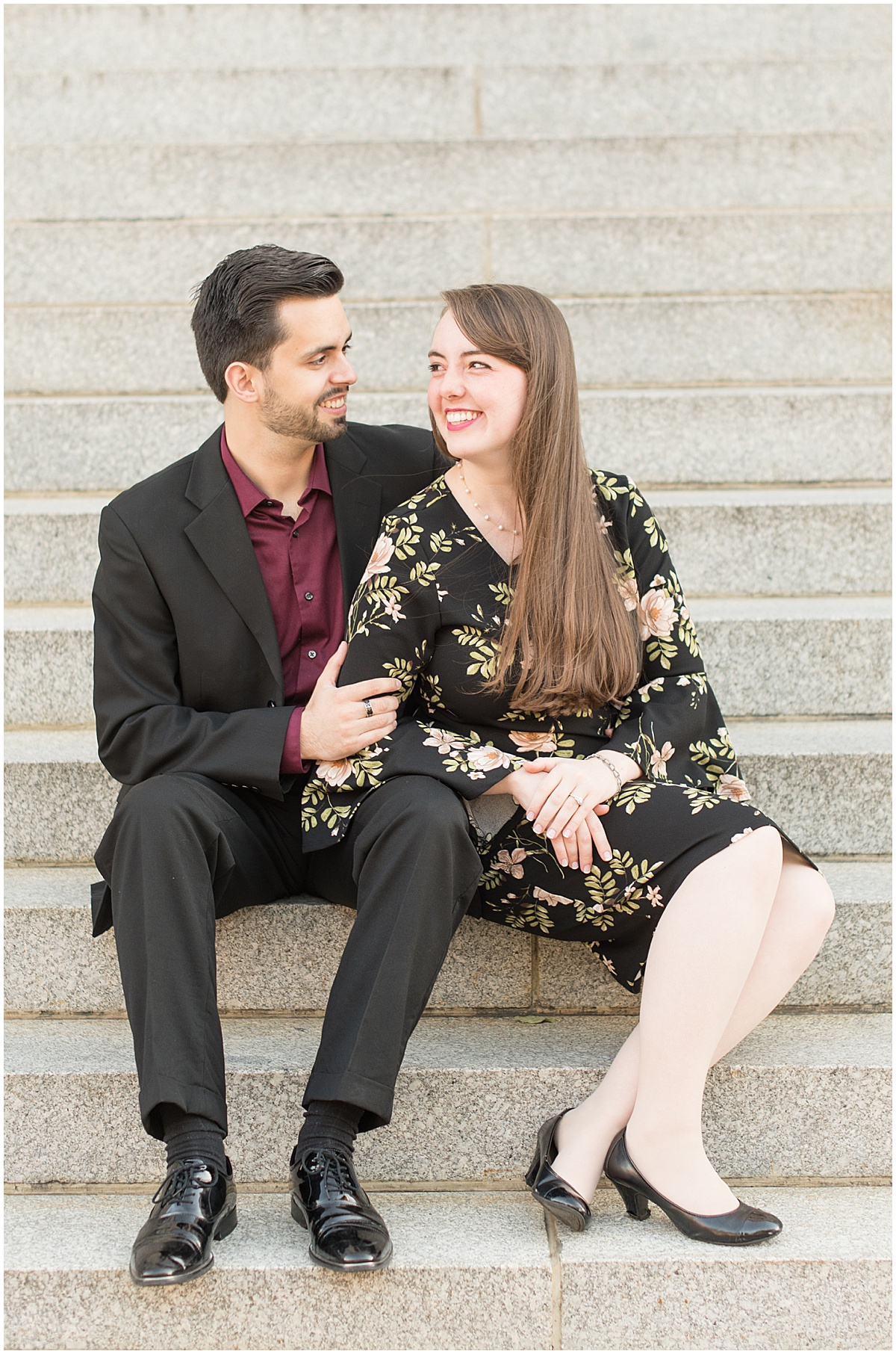 Nick Ballester and Madeline Pingel Engagement Session in Downtown Lafayette Indiana22.jpg