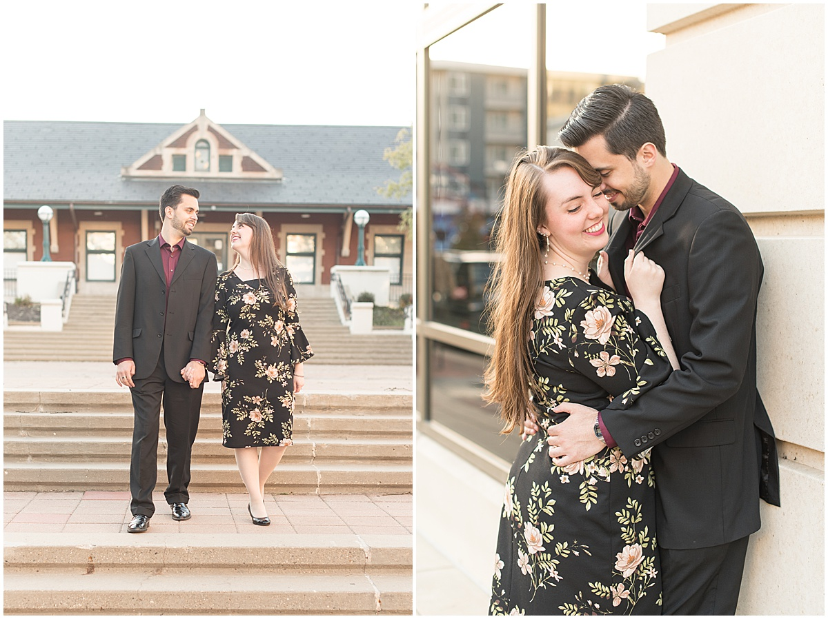 Nick Ballester and Madeline Pingel Engagement Session in Downtown Lafayette Indiana28.jpg
