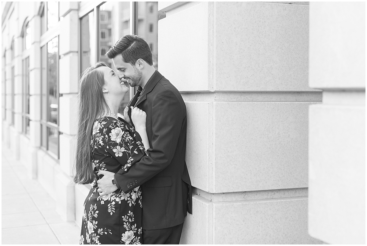 Nick Ballester and Madeline Pingel Engagement Session in Downtown Lafayette Indiana9.jpg