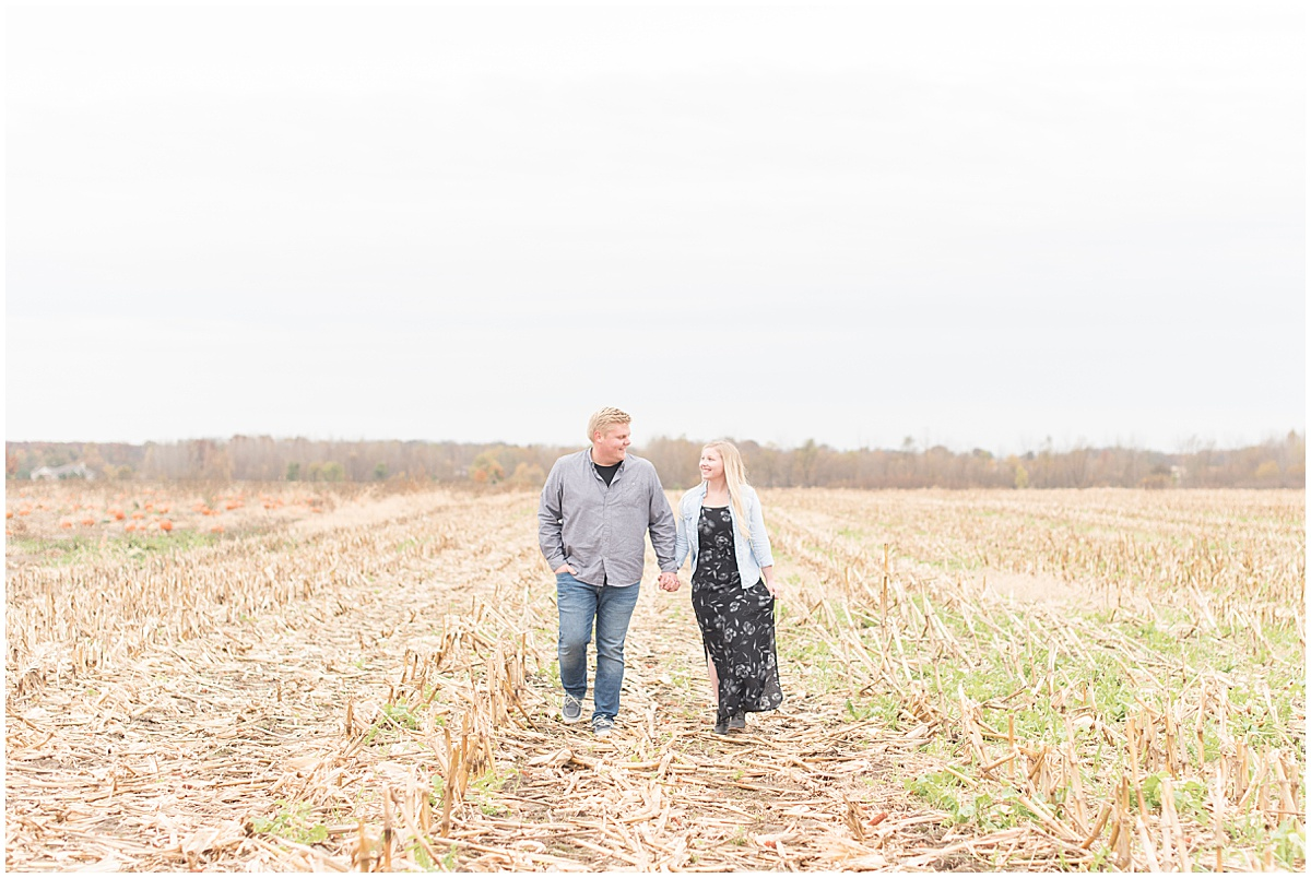 Tyler Van Wanzeele and Baileigh Fleming engagement photos at Wea Creek Orchard in Lafayette Indiana12.jpg