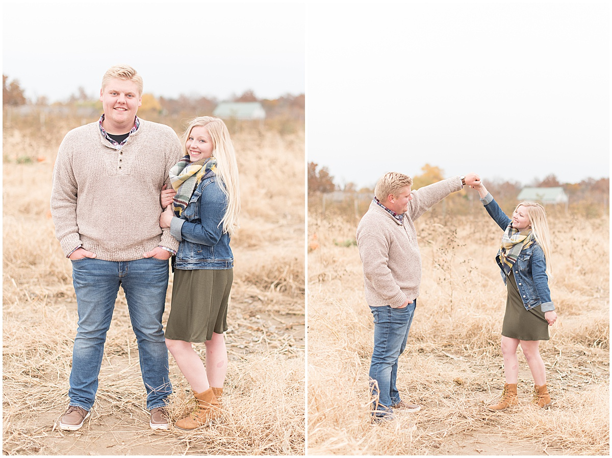 Tyler Van Wanzeele and Baileigh Fleming engagement photos at Wea Creek Orchard in Lafayette Indiana22.jpg