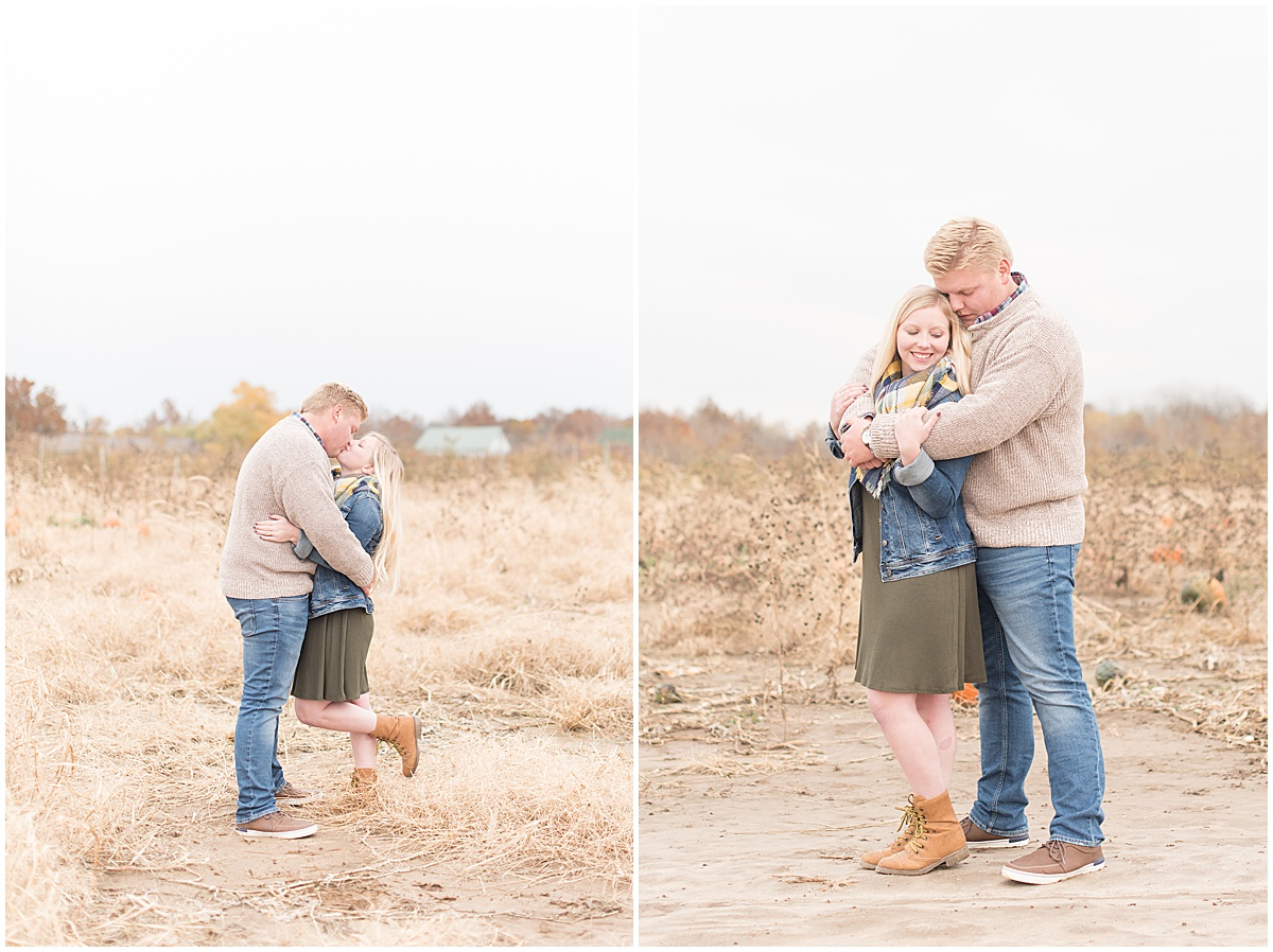 Tyler Van Wanzeele and Baileigh Fleming engagement photos at Wea Creek Orchard in Lafayette Indiana23.jpg