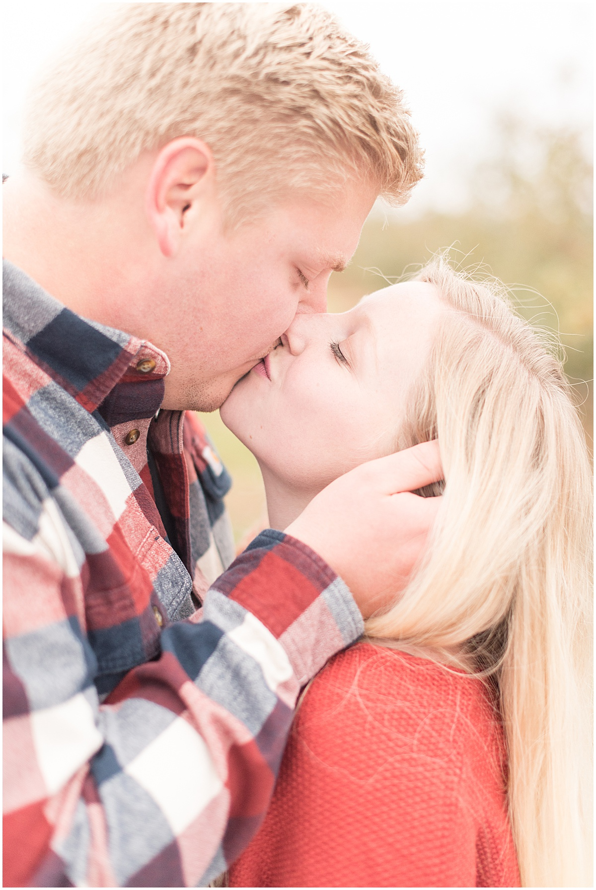 Tyler Van Wanzeele and Baileigh Fleming engagement photos at Wea Creek Orchard in Lafayette Indiana27.jpg