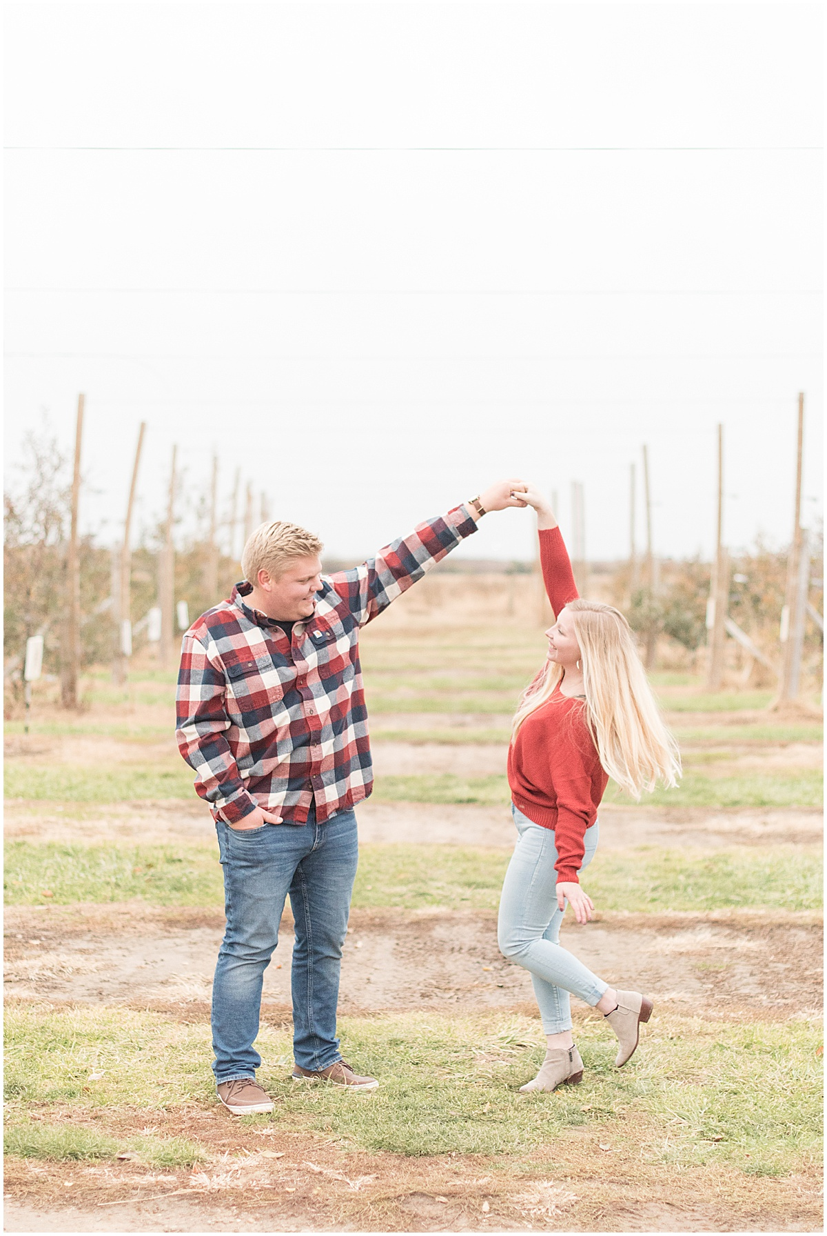 Tyler Van Wanzeele and Baileigh Fleming engagement photos at Wea Creek Orchard in Lafayette Indiana30.jpg