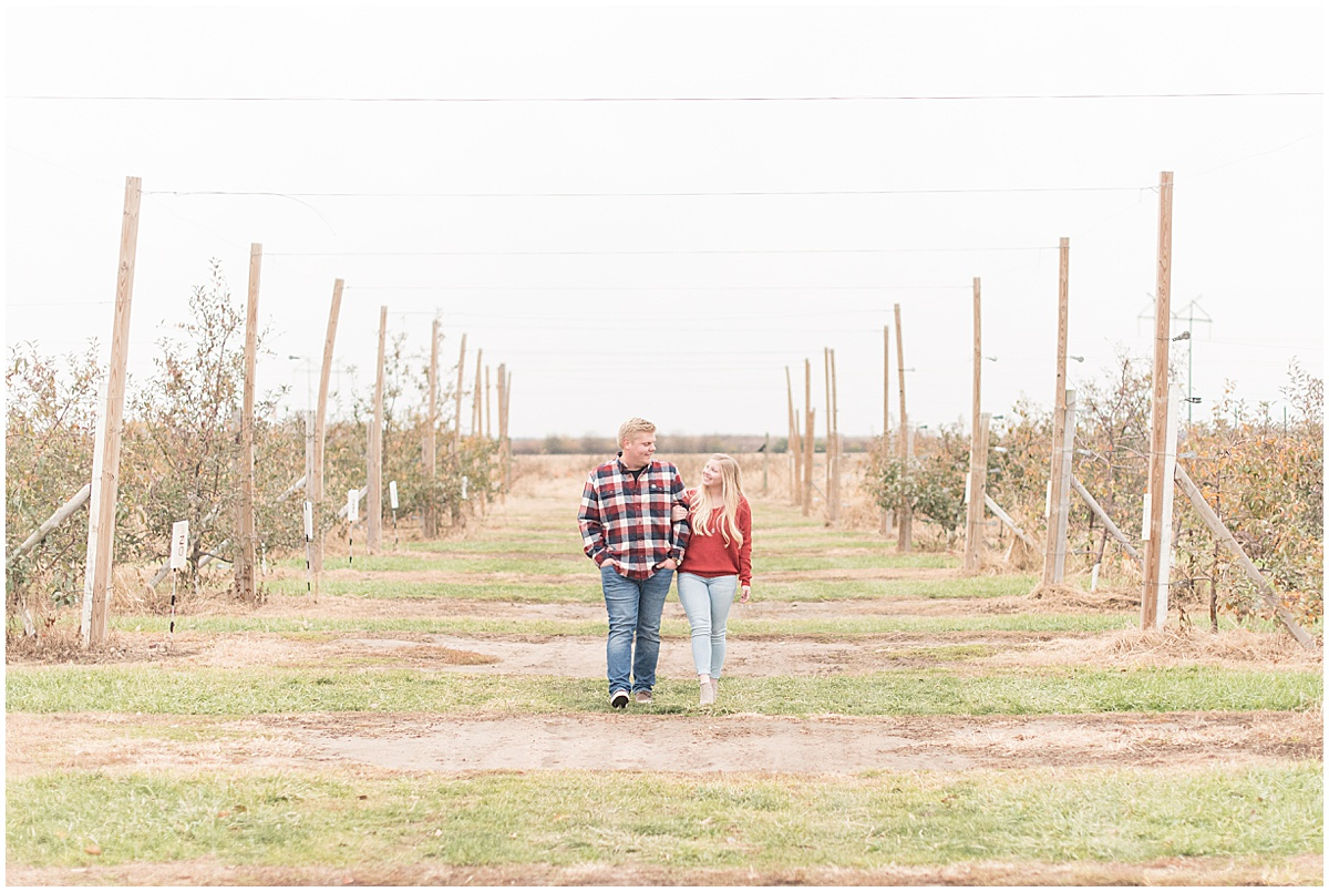 Tyler Van Wanzeele and Baileigh Fleming engagement photos at Wea Creek Orchard in Lafayette Indiana31.jpg