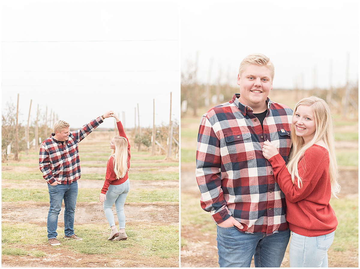 Tyler Van Wanzeele and Baileigh Fleming engagement photos at Wea Creek Orchard in Lafayette Indiana32.jpg
