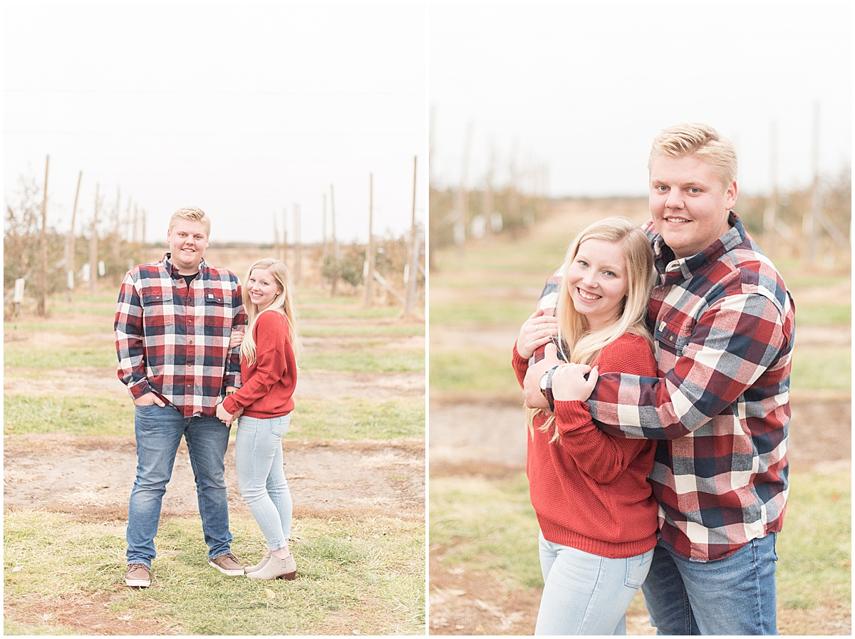 Tyler Van Wanzeele and Baileigh Fleming engagement photos at Wea Creek Orchard in Lafayette Indiana33.jpg