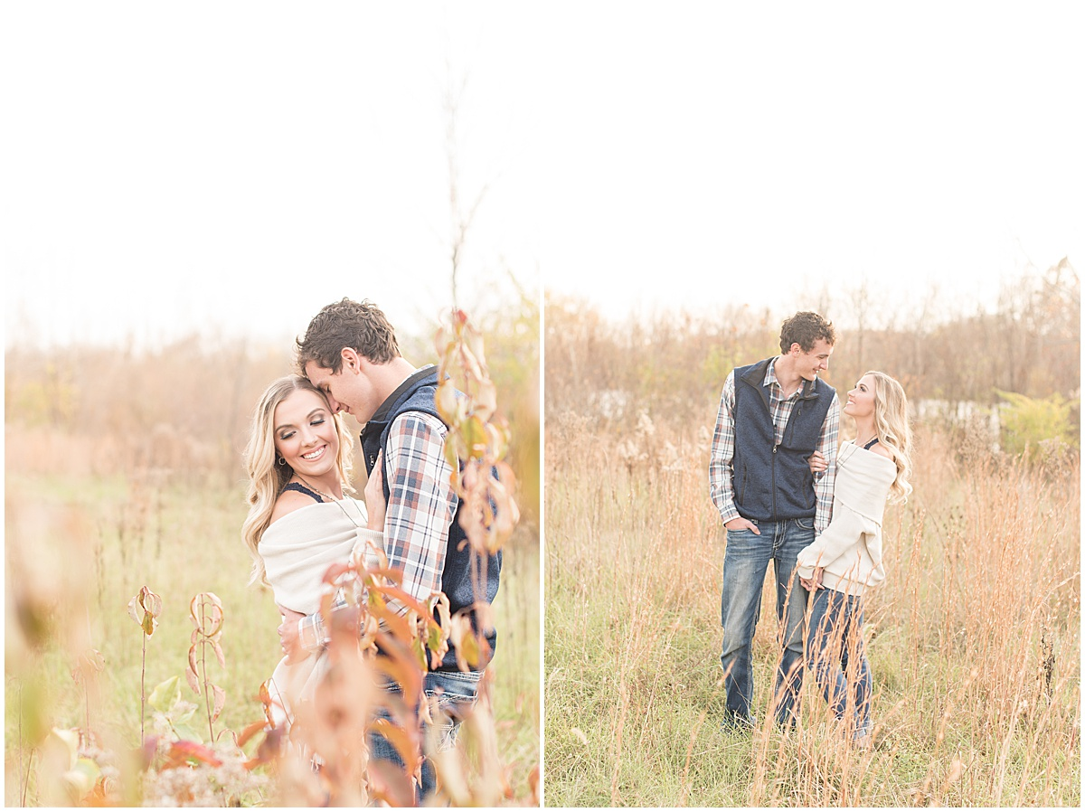 Wyatt Willson and Kaelyn Shircliff engagement session at Fairfield Lakes Park in Lafayette Indiana 12.jpg