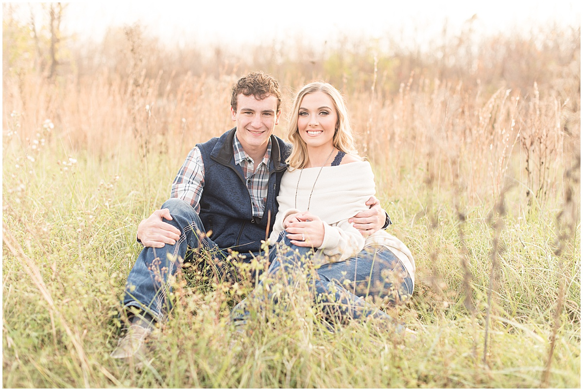 Wyatt Willson and Kaelyn Shircliff engagement session at Fairfield Lakes Park in Lafayette Indiana 17.jpg