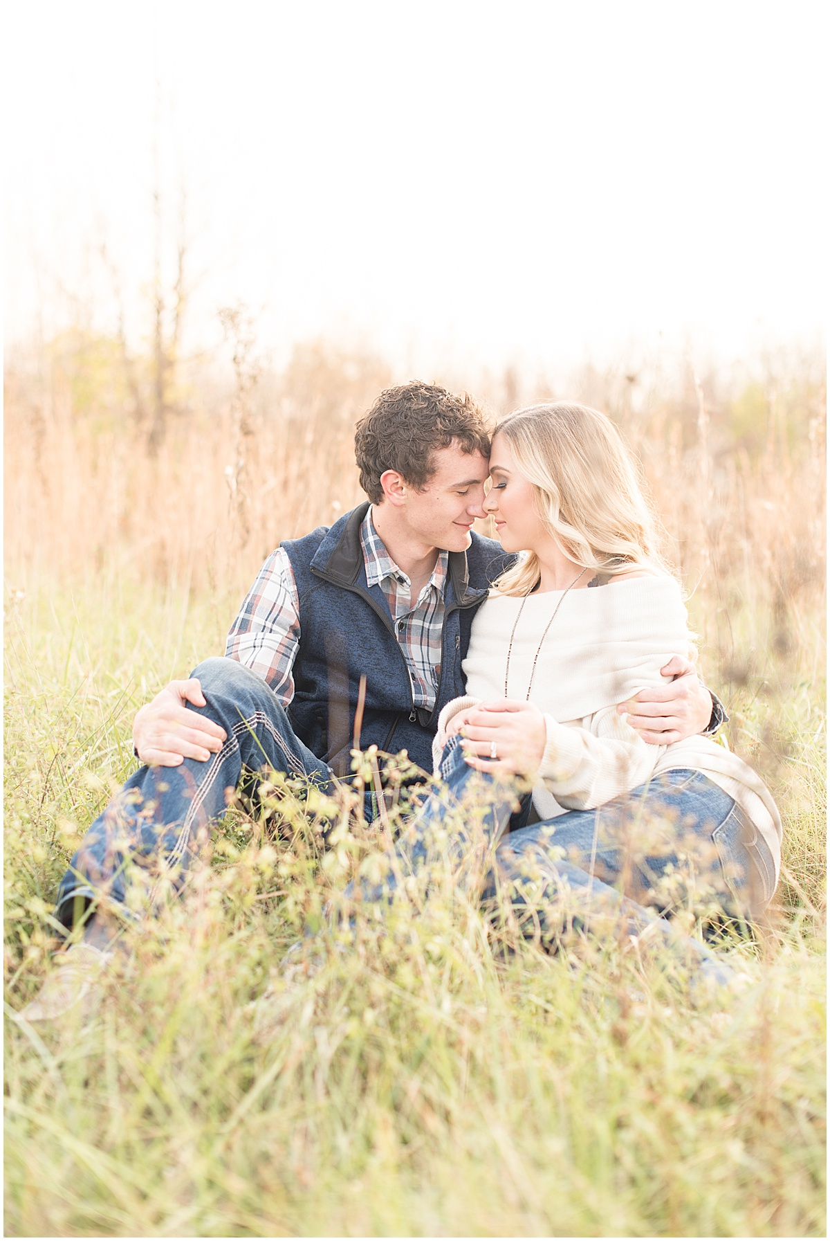 Wyatt Willson and Kaelyn Shircliff engagement session at Fairfield Lakes Park in Lafayette Indiana 18.jpg