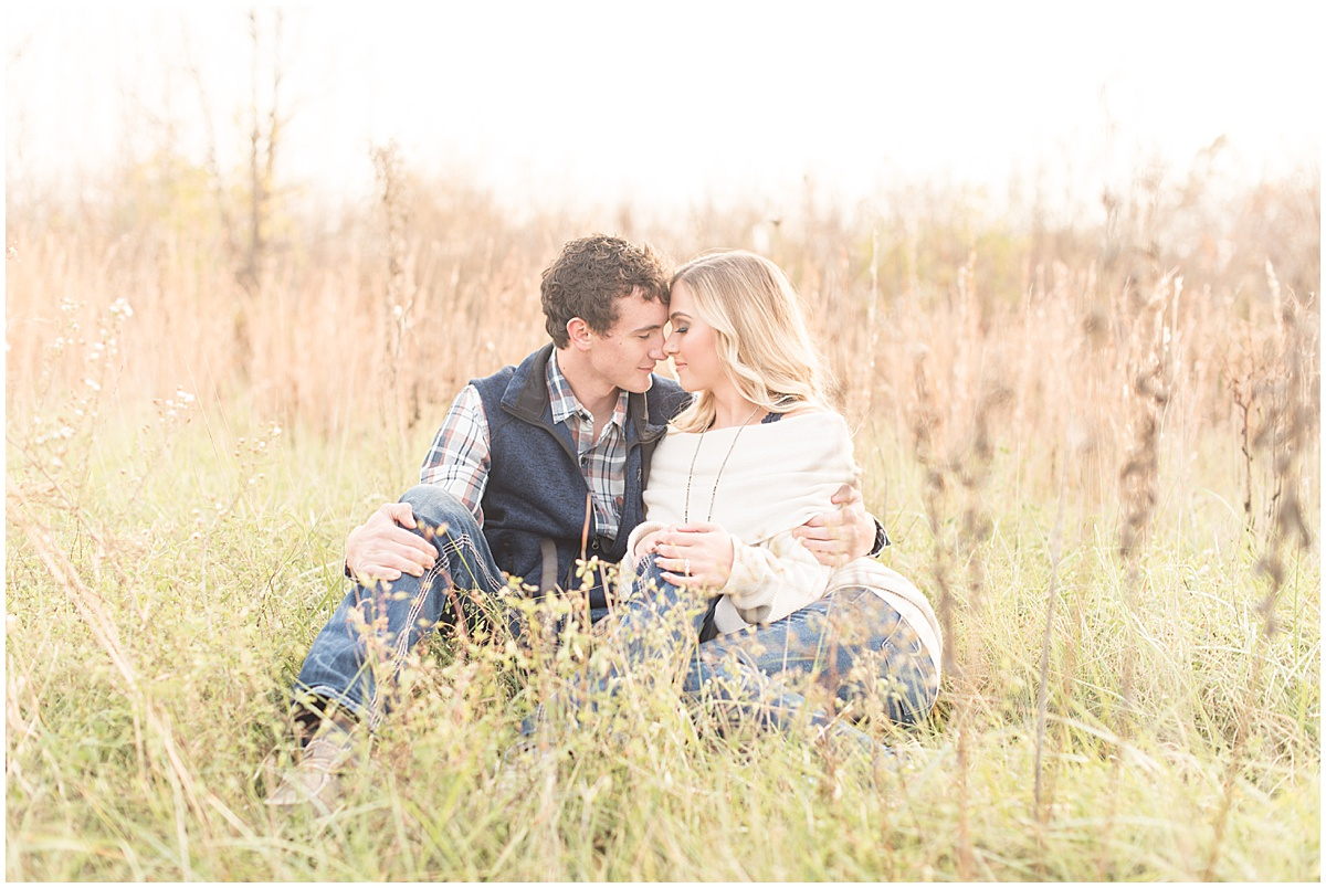 Wyatt Willson and Kaelyn Shircliff engagement session at Fairfield Lakes Park in Lafayette Indiana 19.jpg