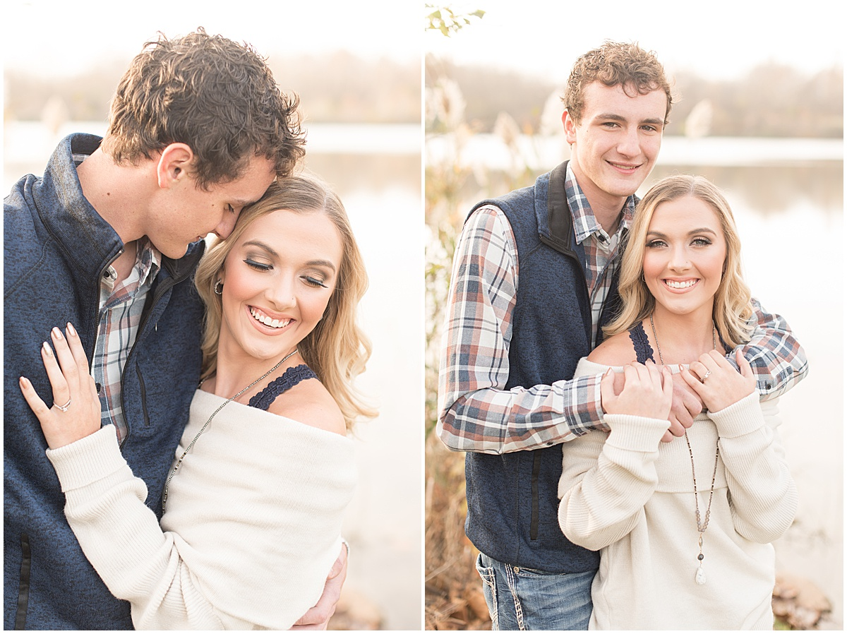 Wyatt Willson and Kaelyn Shircliff engagement session at Fairfield Lakes Park in Lafayette Indiana 2.jpg
