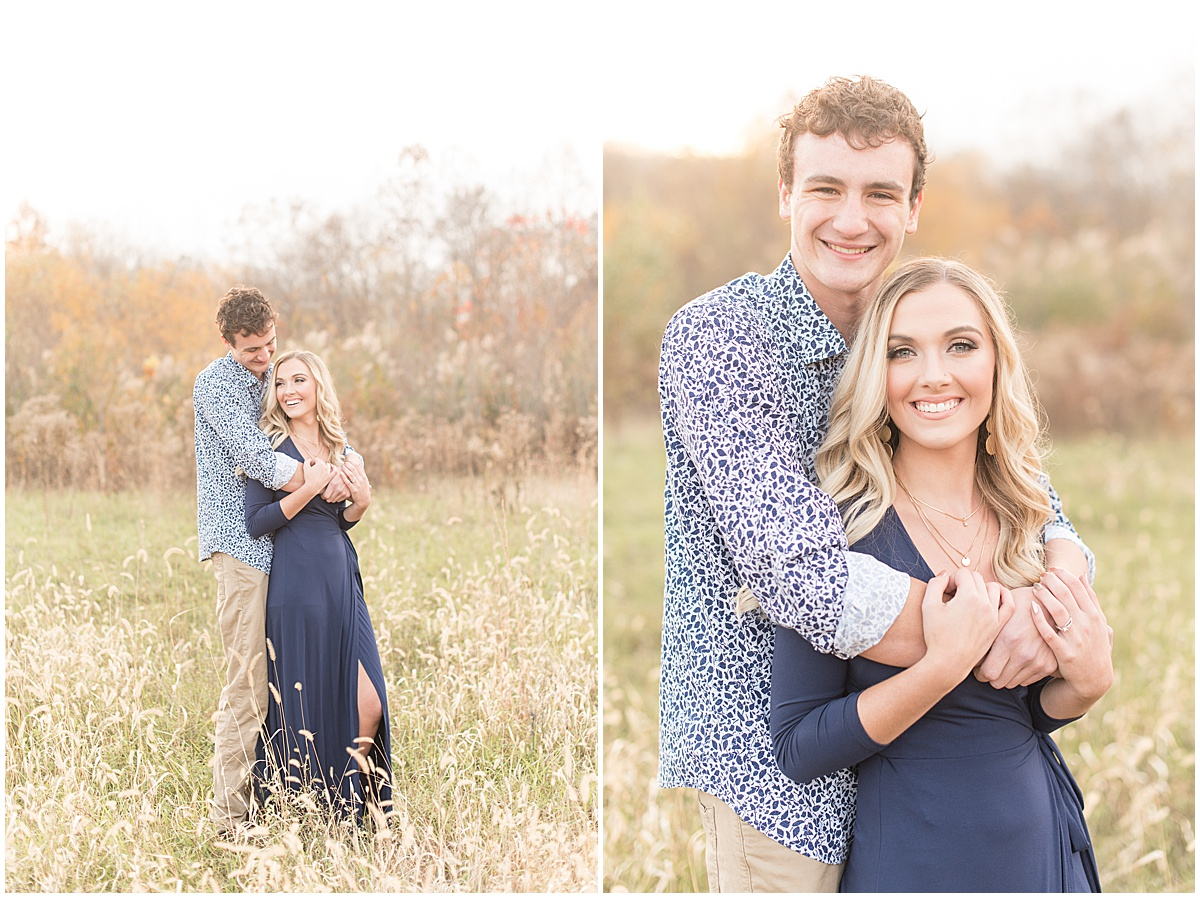 Wyatt Willson and Kaelyn Shircliff engagement session at Fairfield Lakes Park in Lafayette Indiana 28.jpg