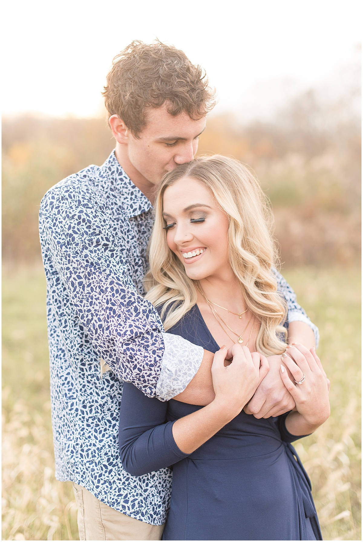 Wyatt Willson and Kaelyn Shircliff engagement session at Fairfield Lakes Park in Lafayette Indiana 29.jpg