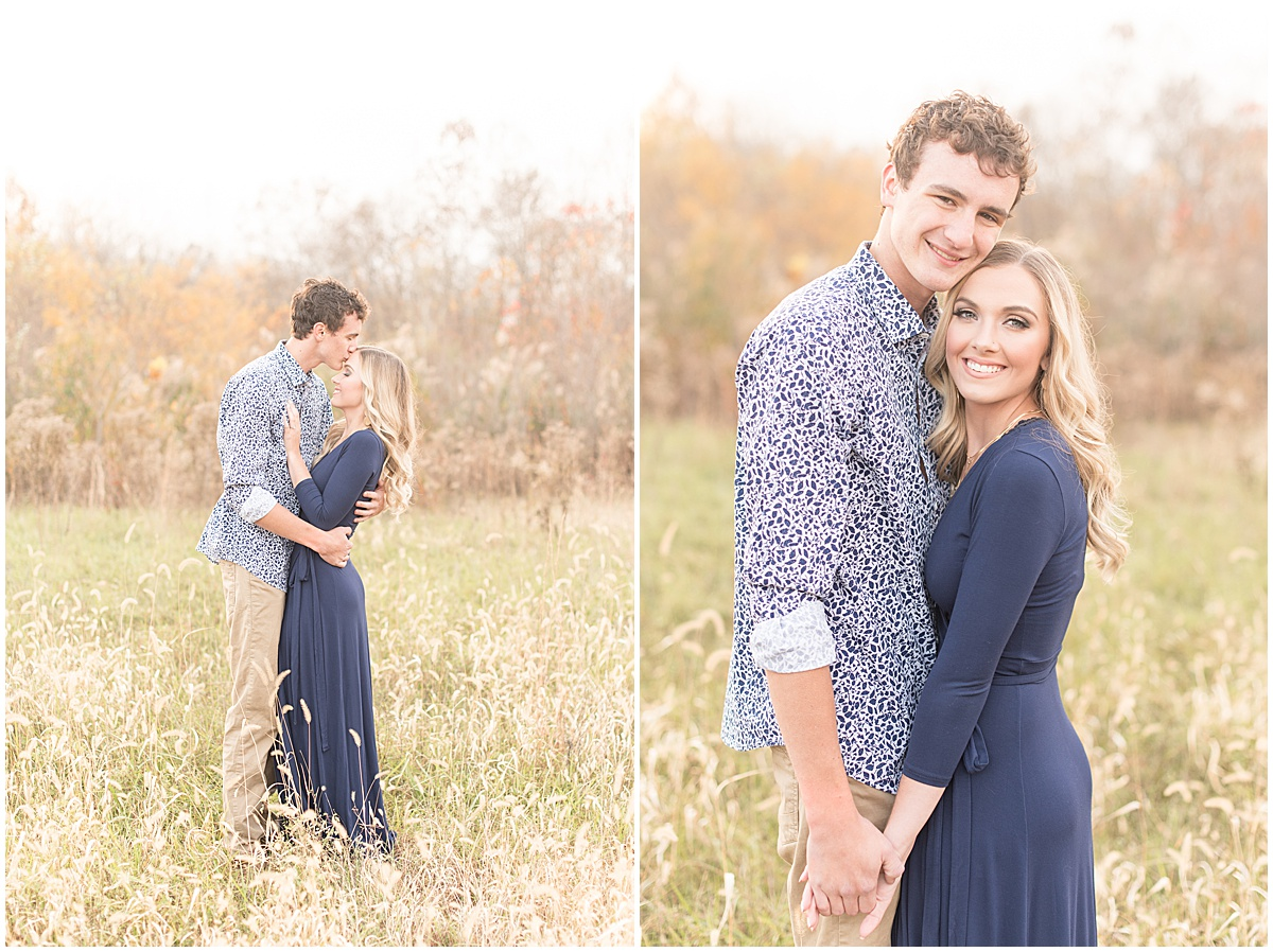 Wyatt Willson and Kaelyn Shircliff engagement session at Fairfield Lakes Park in Lafayette Indiana 35.jpg