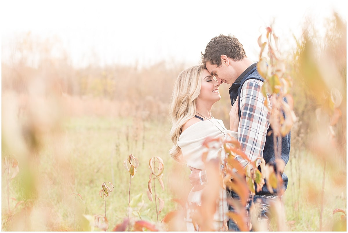 Wyatt Willson and Kaelyn Shircliff engagement session at Fairfield Lakes Park in Lafayette Indiana 9.jpg