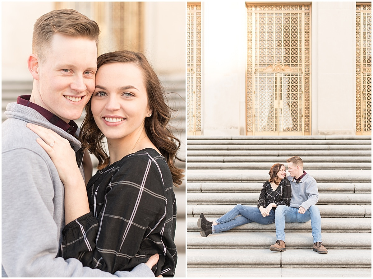 Winter Engagement Photos in Downtown Indianapolis 1.jpg