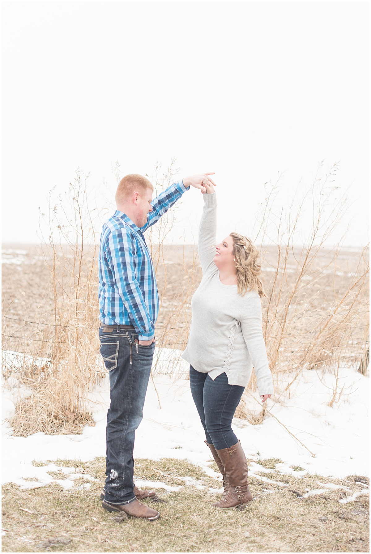 Ryan & Katie - Country Engagement Photos in Otterbein Indiana10.jpg