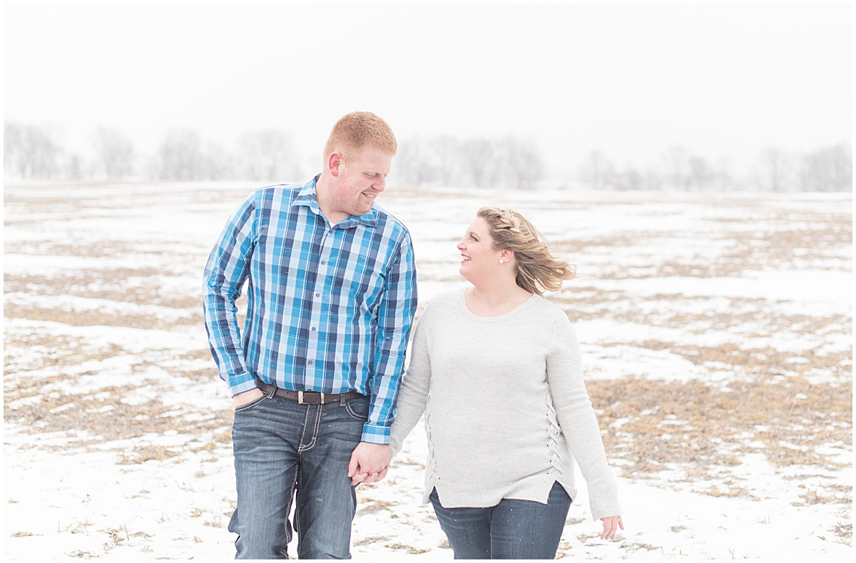 Ryan & Katie - Country Engagement Photos in Otterbein Indiana13.jpg