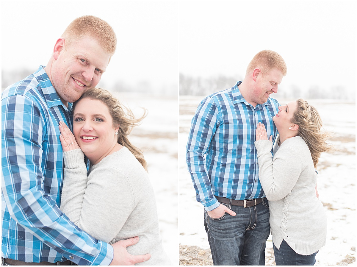 Ryan & Katie - Country Engagement Photos in Otterbein Indiana15.jpg