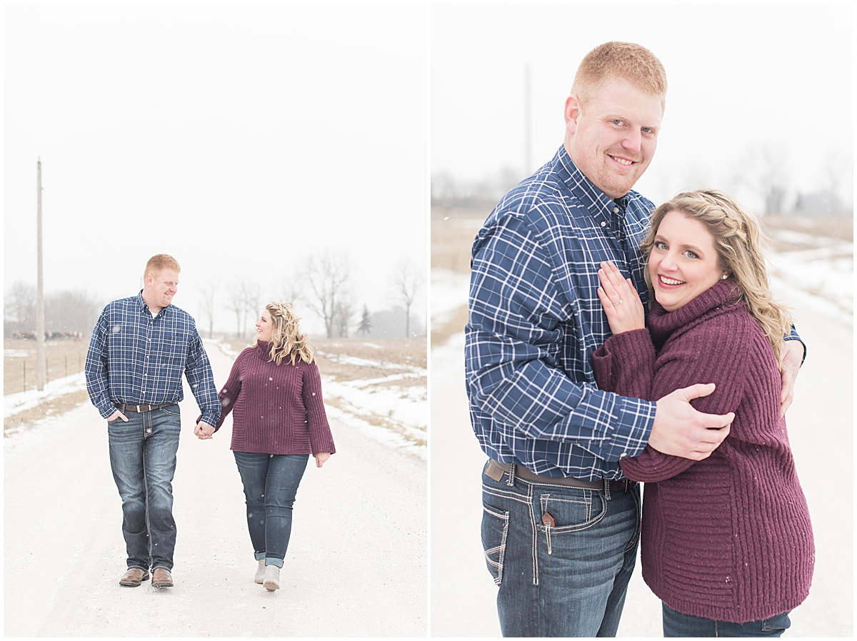 Ryan & Katie - Country Engagement Photos in Otterbein Indiana18.jpg