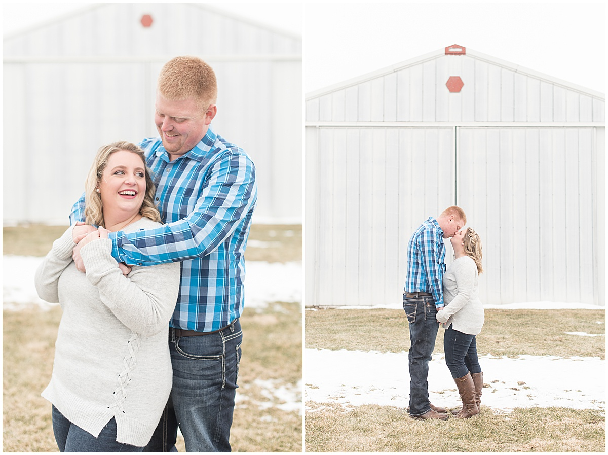 Ryan & Katie - Country Engagement Photos in Otterbein Indiana5.jpg