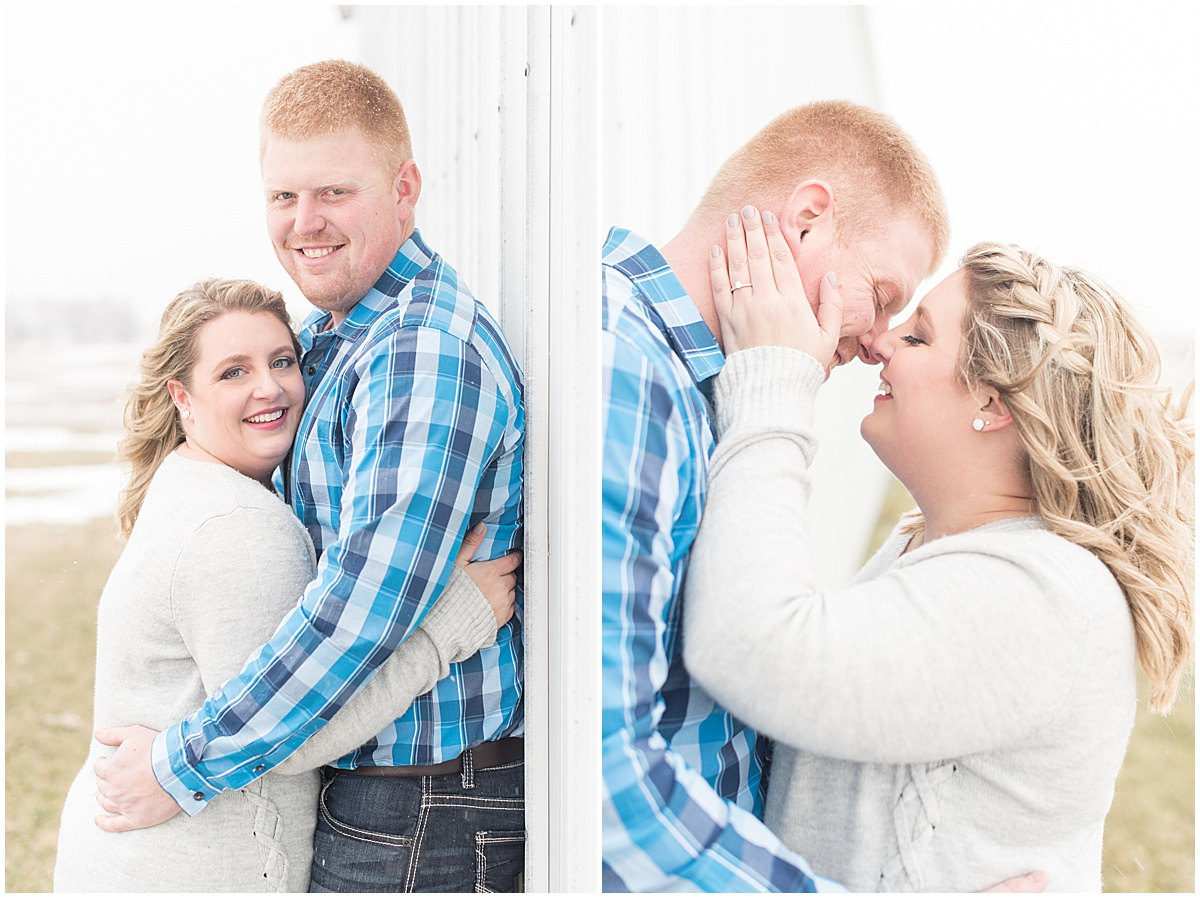 Ryan & Katie - Country Engagement Photos in Otterbein Indiana7.jpg