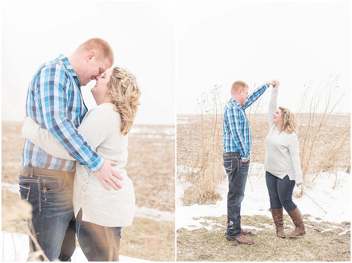 Ryan & Katie - Country Engagement Photos in Otterbein Indiana9.jpg