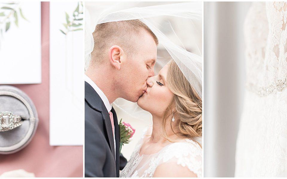 Bruce Anderson and Becky Wisniewski celebrating their wedding in Berwyn, Illinois