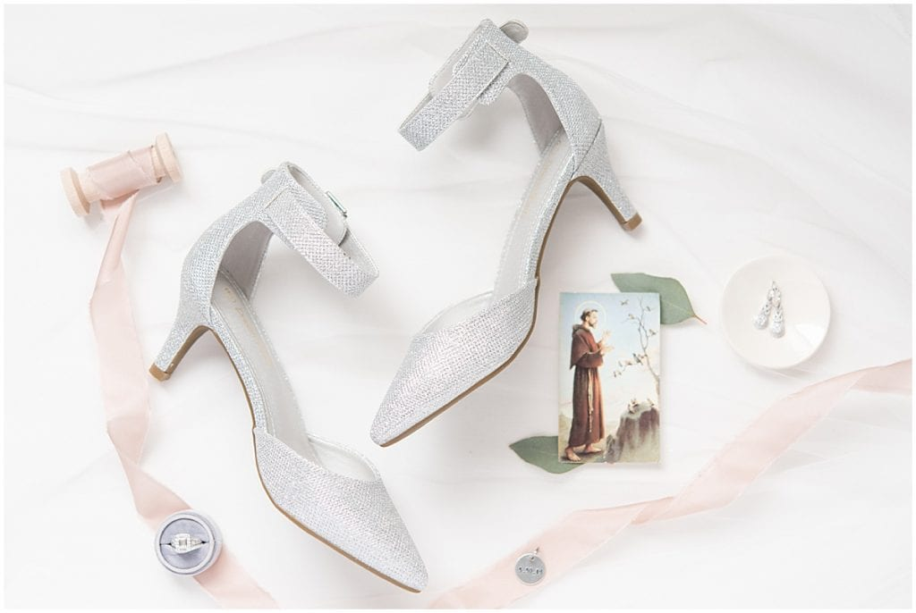 Add shoes to your checklist for wedding detail photos.