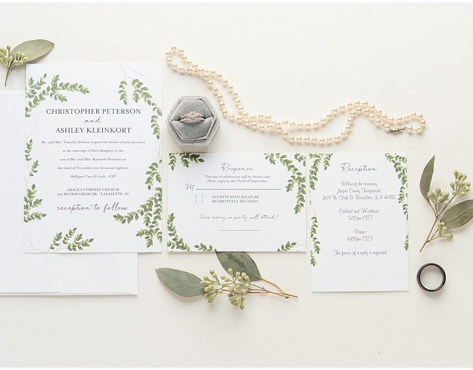 Add your invitation suite to your checklist for wedding detail photos.