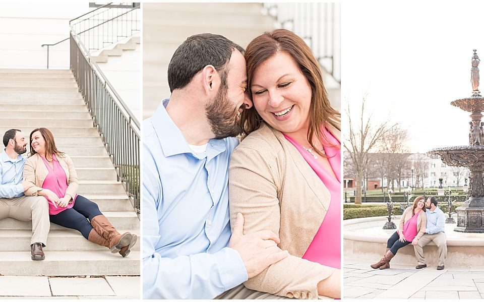 Mike Tomarchio and Amanda Martin's engagement photos in the Village of West Clay in Carmel, Indiana