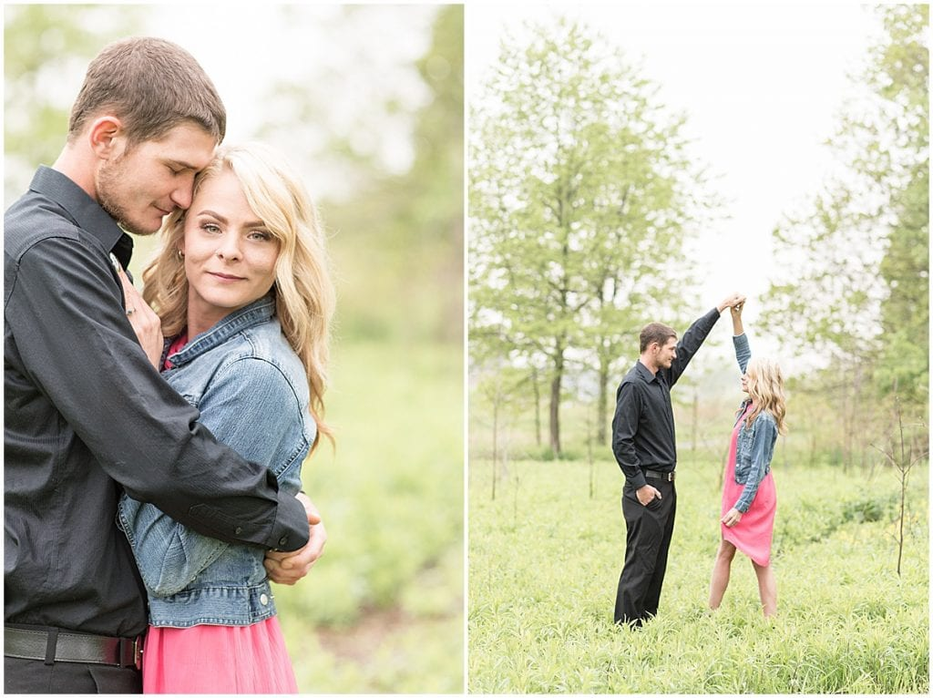 Celery Bog Spring Engagement Photos in West Lafayette, Indiana